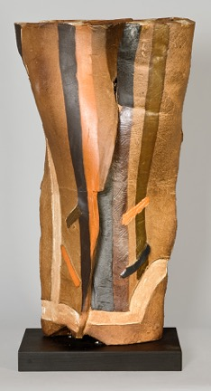 Pylae III, 2002, wood-fired stoneware
