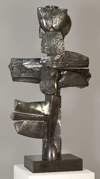 Apollonian Libation, 2001, bronze, 47 x 25 x 8 inches