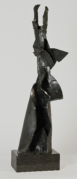 Balzac's Cloak II, 2000, bronze, 31 x 8 x 8 inches