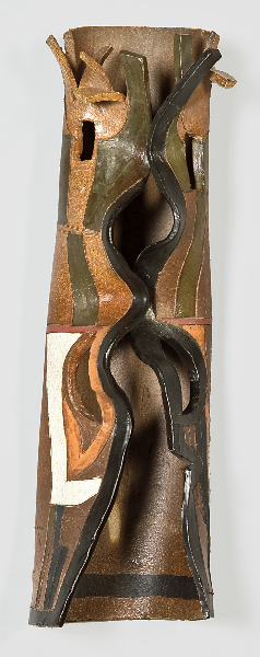 Daphne, wall relief, 2002, wood-fired stoneware, 20 x 6 x 5 inches