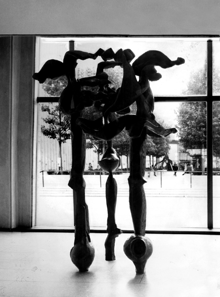 K458. The Hunt, Lincoln Center, New York, 1968, bronze, 12' high
