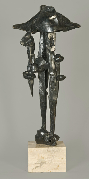 Floating Helmets Variation, 1963, bronze 34 x 15 x 8 inches