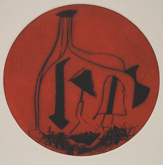 Shields of Achilles, from portfolio, 1996 II, etching, 16 x 12 inches