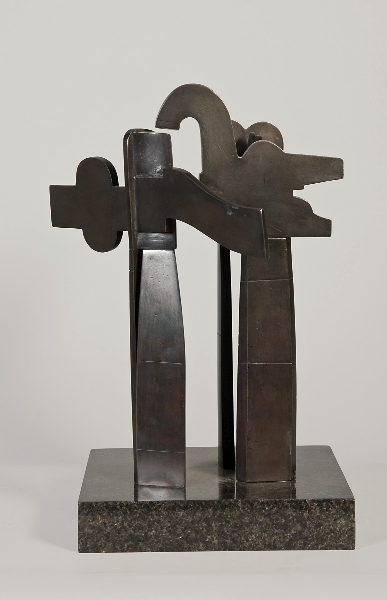 Harvard Square Study, 1980, bronze, 15 x 10 x 10 inches