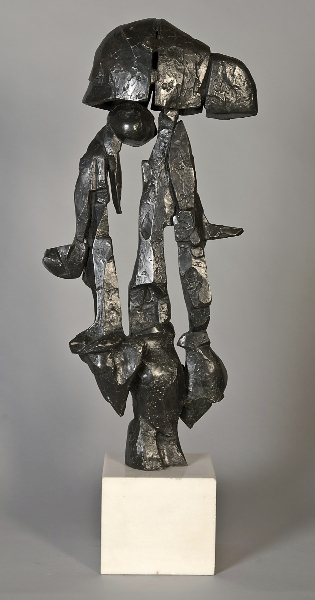 Helmet Variation, 1960, bronze, 24 x 11 x 4 inches
