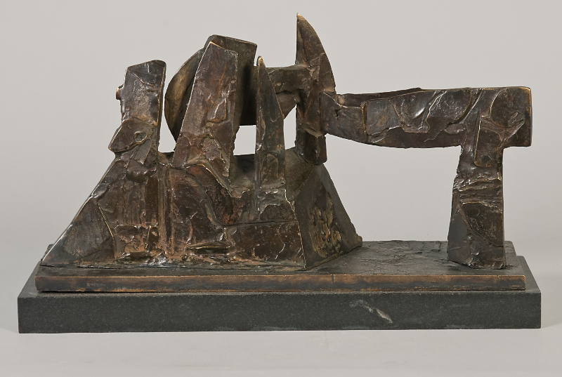Menelaus' Dilemma, 1989, bronze, 8.5 x 16 x 6 inches