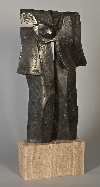 Pillars of Hercules II, 1972, bronze, 21 x 12 x 3 in.