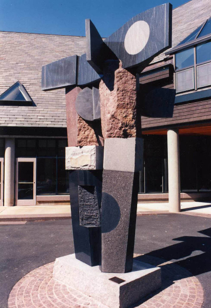 Primavera, Pine Minor College, Boston, MA, 1987, mixed granites, 13' high