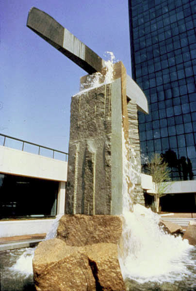 Propylaea, Owens-Illinois Co., Toledo, OH, 1982, mixed granites, 40' high