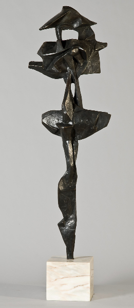 S.P.Q.R., 1959, bronze 41 x 13 x 7 inches