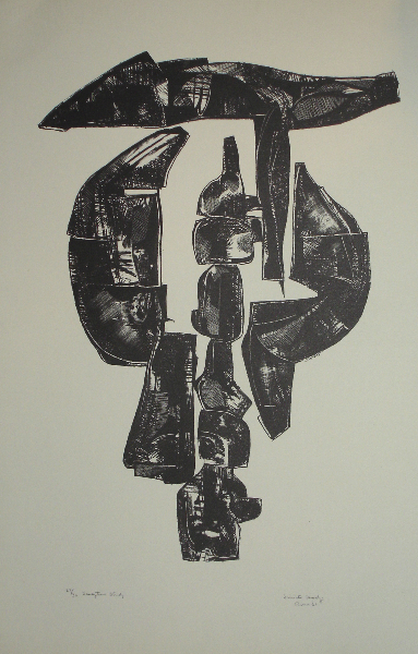 Sculpture Study I, 1960s, lithograph, 18 x 24 inches