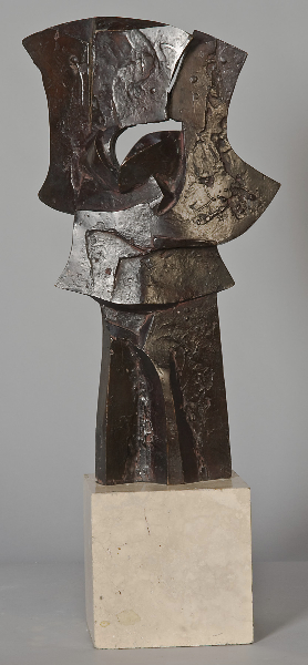 Shields of Achilles, 1974, bronze, 17 x 9 x 4 in.