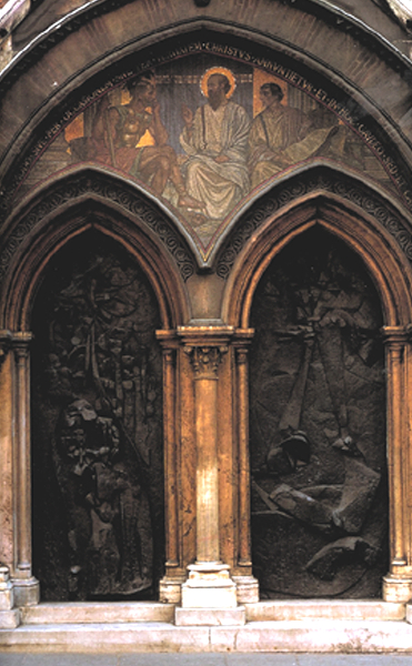 Ecumenical Doors, St.Paul-Within-the-Walls, Rome, 1977, bronze, 12' high