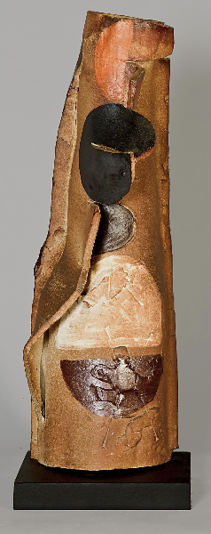 Etruscan Votive I, 2001, wood-fired stoneware, 25 x 14 x 8 inches