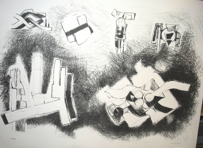 Studies for Sculptures II, 1980s, etching, 36 x 24 inches
