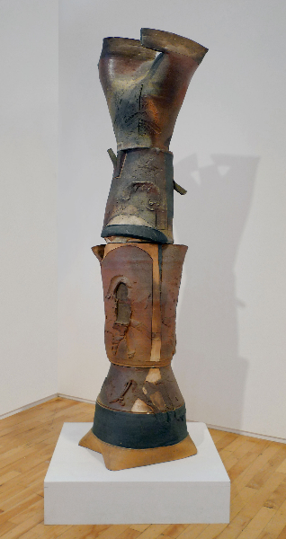Vulcan, 2002, wood-fired stoneware, 66 x 20 x 11 inches