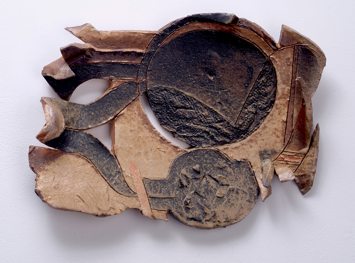 Black Sun, 2003, wood-fired stoneware, 11 x 14 inches