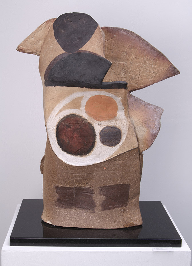 Enigma, 2004, wood-fired stoneware, 29 x 23 inches